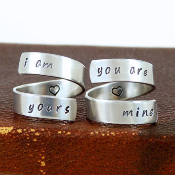 I am yours - You are mine - Best Friends - Game of Thrones - Wrap Ring Set