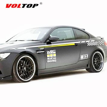 VOLTOP Racing Car Stickers Whole Body 3D Scratch Cover Car-styling Reflective Strips Motorcycle Decorate Auto Sticker Decal Film