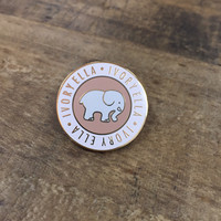 Peach Ella Medallion Pin