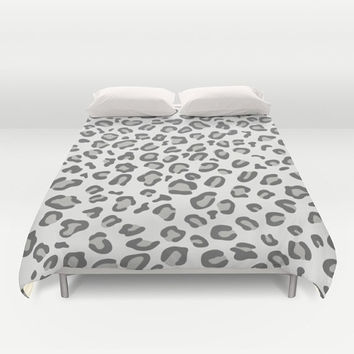 Leopard Duvet Cover white leopard print duvet covers animal print bedding teen girl bedding cheetah print king queen full duvet covers