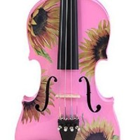 Creative Concept Instruments SSP5044 Rozanna's Sunflower DeLight 4/4 Violin Outfit, Pink