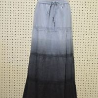 New MICHAEL KORS Peasant Skirt BOHO style Blue Ombre Chambray Blue RETAILS $130