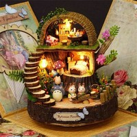 Totoro Anime Cottages Music Box Kit - Fantasy Forest OR Candy Cat Figurine