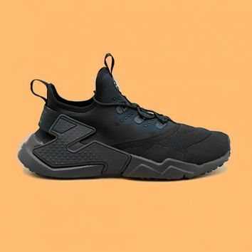 spbest NIKE - Boy - GS Air Huarache Drift - Black/White