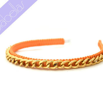 NEW Lolabellas Chain Headband - Peachy