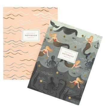 Mermaid Notebook Set by RIFLE PAPER Co. | Made in USA