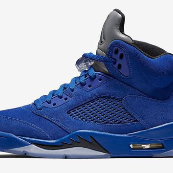 Air Jordan Retro 5 V 'Blue Suede'