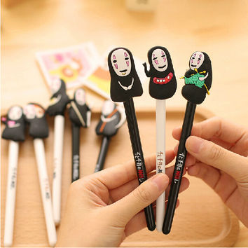 New Cute Kawaii Hayao Miyazaki Cartoon Gel Pens Novelty Stationery Gift For Kids School Office Supplies Free Shipping 538
