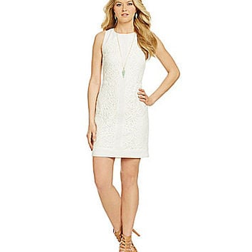 Vince Camuto Lace Shift Dress - White