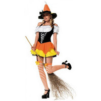 Leg Avenue Womens Kandy Korn Witch Halloween Party Dress Costume