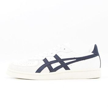 asics onitsuka tiger gsm white black unisex running shoes sneakers trainers  number 1