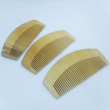 Useful Natural Tooth Peach Wood No-static Massage Hair Brush Wood Comb Hair Styling Tools