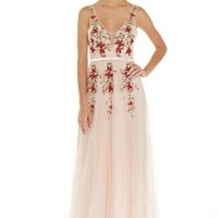 Jalen Embroidered Rose Prom Formal Event Dress Gown
