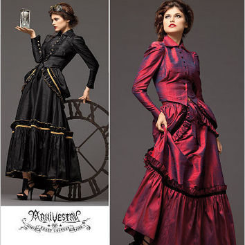 CLEARANCE  Plus size Steampunk Victorian Era Dress Costume Sewing Pattern Simplicity 2207 Sizes 14, 16, 18, 20 UNCUT