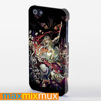 Alice In Wonderland Kill Zombie iPhone 4/4S, 5/5S, 5C Series Full Wrap Case