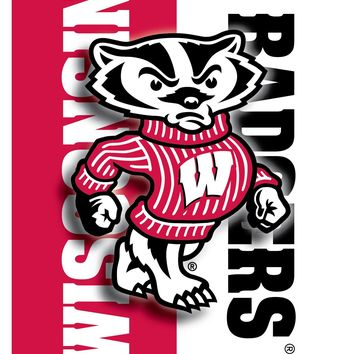 Wisconsin Badgers Bucky Badger 24x18 Football Poster