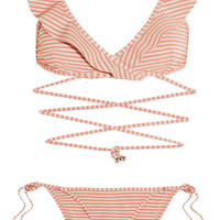 Zimmermann - Caravan ruffled striped bikini