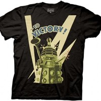 Doctor Who To Victory! Black Mens T-shirt - Doctor Who - | TV Store Online