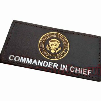 United States President Commander IN Chief Leather Black Patches US Fur Coat Backpack Applique Patch Accessories Cosplay Prop