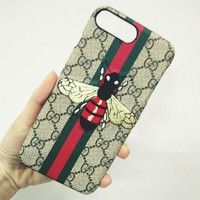 GUCCI Trending Bee Embroidery iPhone Phone Cover Case For iphone 6 6s 6plus 6s-plus 7 7plus 8 8plus G