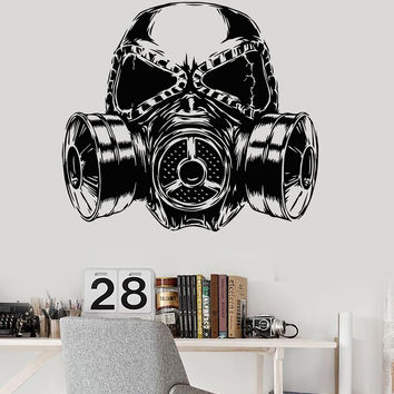 Vinyl Wall Decal Gas Mask Gift For Boy Teen Room Decoration Stickers (ig3588)
