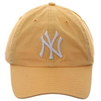 47 Brand Cleanup New York Yankees Dad Hat - Yellow
