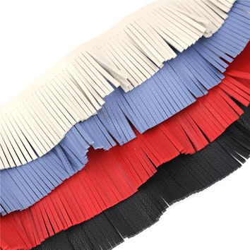 SKEINS 5Yards/Lot Bohemia Style Velvet Faux Leather Fringe Tassel Trim For Diy Necklace Crafts Accessories Jewelry Findings