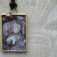 Artisan Jewelry - Buddha Necklace with Pearl - Original Photography