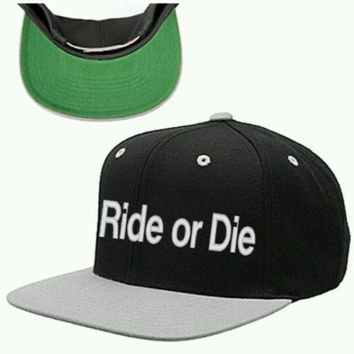 ride or die snapback hat cap race hat snapback