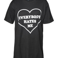 Everybody Hates Me Tee Black