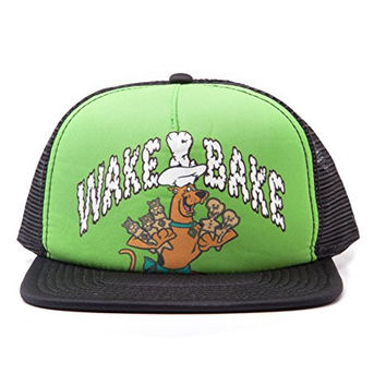 Scooby Doo Wake and Bake new Official green Snapback Trucker Cap