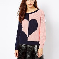 River Island 2 Side Heart Jumper