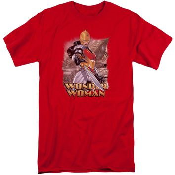 Jla - Wonder Woman Short Sleeve Adult Tall