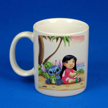 Lilo and Stitch custom mug, cup, funny mug , funny cup,, :)