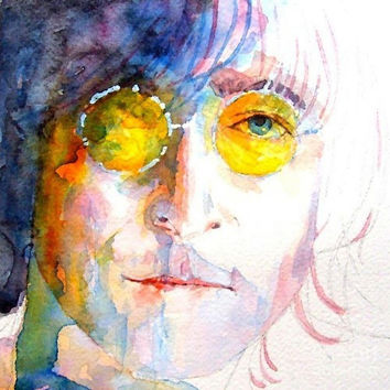 John Winston Lennon Painting by Paul Lovering - John Winston Lennon Fine Art Prints and Posters for Sale