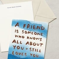 Sycamore Street Press About A Friend Card in Blue Size: One Size Gifts