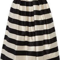 Tibi - Escalante striped silk-satin midi skirt