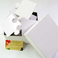 White Wedding Guest Book Puzzle with 30 Extra Large Puzzle Pieces