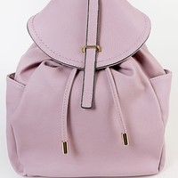The Oh Mighty Pastel Leather Backpack PINK