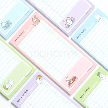 Korea Kawaii Cute Planner Potatoes Rabbit Sticky Notes With Pocket Post It Memo Pad School Office Suppies Stationery For Student