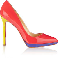 Christian Louboutin - Pigalle Plato 120 patent-leather pumps