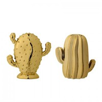 Ceramic Cactus Gold (Set of 2)