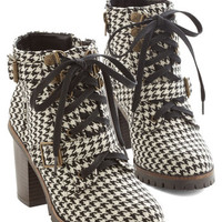 ModCloth Vintage Inspired Show Me Your Houndstooth Boot