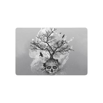 Autumn Fall welcome door mat doormat Creative  Tree of Life Anti-slip  Home Decor, Black and white Indoor Outdoor Entrance  Rubber Backing AT_76_7