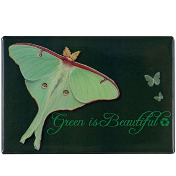Green is Beautiful Refrigerator Magnet
