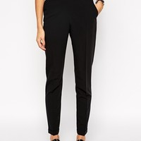 ASOS TALL Longer Length Cropped Pants With Clean Waistband