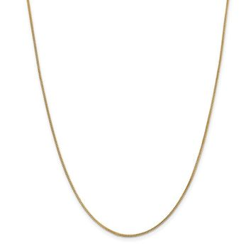 14K Yellow Gold .9mm Solid Polished Franco Chain 16 Inch
