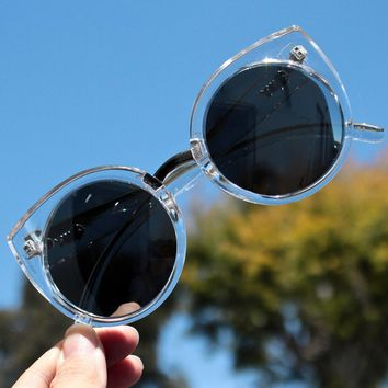 Final Sale   Quay China Doll Sunglasses   Clear