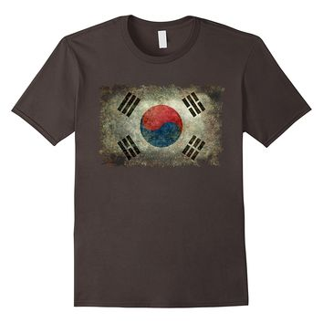Vintage Flag Of Korea T-Shirt