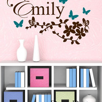 Butterfly Branch Wall Decal